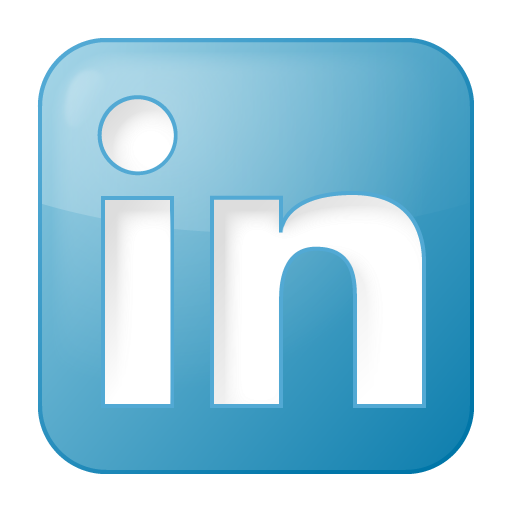 social linkedin box blue